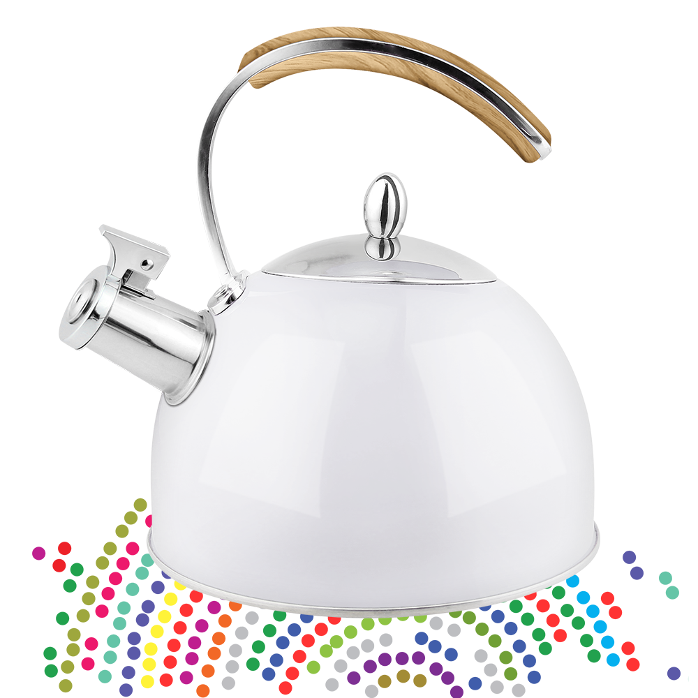 White Stove Top Whistling Kettle copy